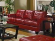 1PerfectChoice Samuel Red Contemporary Bonded Leather Sofa