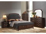 1PerfectChoice Lancaster Espresso Queen Bed