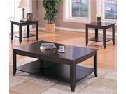 1PerfectChoice Cappuccino 3 Pieces Coffee Table Set With Shelves