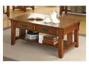 Simple Relax 1PerfectChoice Oak Occasional Group 2 Drawer Coffee Table