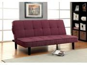 1PerfectChoice Denny Sofa Bed Futon Tufted Seating Adjustable Sleeper Plush Linen like Fabric Purple
