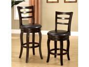 1PerfectChoice Southland Swivel Barstool 24 H Counter Stool Chair PU Leather Espresso