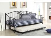 1PerfectChoice Hamden Transitional Sturdy Metal Daybed Day Bedal Black