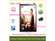 Huawei MediaPad M1 S8-301u 8 inch 3G Phone Calling Tablet PC quad core Android 4.2 Hisilicon Kirin 910 1GB RAM 16GB ROM IPS Screen Touch Capacitive Screen 128