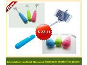 Multi-function Extendable Handheld Monopod Wireless bluetooth remote control Shutter Smart Phone Accessaries for iPhone iPad iPod Samsung Sony HTC