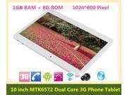 10 inch WCDMA 3G Phone Call tablet pc Android 4.2 Dual Core 1.2Ghz 1GB RAM 8GB ROM phone call GPS bluetooth Wifi Dual Camera with SIM Card Slot 1024*600 Pixel +