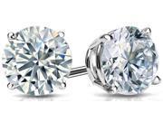 Diamond Princess DP1234 1/2 Ctw Diamond 14K White Gold Stud Earrings