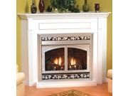Standard Corner Cabinet Mantel EMBC7SC with Base Cherry