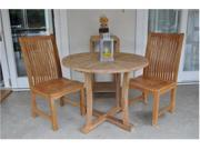 "35"" Round Dining Table With Curve leg and Chicago Chair"