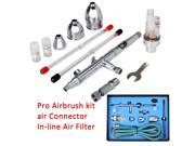 TD-183k Airbrush Set  Gravity Feed d/Action 3 Cup Airbrush Kit