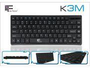 K3M USB Mini Keyboard with 1.4m cable 84 Keys for Laptop Desktop