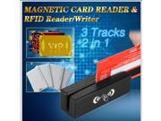 2in1 USB 3 Track Magnetic Card Reader+RFID card Reader/Writer Built-in data encryption option Triple DES, advanced security features and masked data  +Software CD
