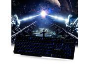 RAJFOO Multimedia LED Illuminated 3 Color Backlight Wired USB Gaming Keyboard with 104 Keys