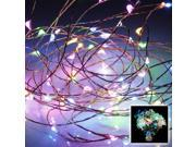EXCELVAN Multi-color 300 Leds 98 Feet String Lights Copper Wire LED Starry Light Copper Wire For Christmas Trees, Wedding, Gardens, Lawn, Patio, parties(7 rainbow colors)