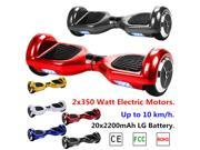 CE, FCC, ROHS, Dual Wheel Self Balancing Electric Scooter, 2x350 Watt Electric Motors, 4400mAh LG Battery, 10kmph, 100kg Max Load,Outdoor Sports Kids Adult Transporter with LED Light