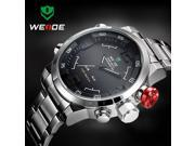 WEIDE WH2309 LED Men Military Watch with Double Movts Digital and Analog Indicate Round Dial