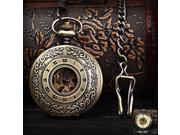 Flip Automatic Mechanial Pocket Watch Analog Coppery Watch