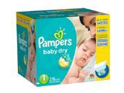 Pampers Baby Dry Size 1 Diapers Super Economy Pack - 216 Count