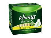 Always Ultra Thin Regular With Wings Unscented Pads 18-Count