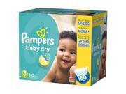 Pampers Baby Dry Size 3 Diapers Super Economy Pack - 180 Count