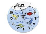Trend Lab Dr. Seuss One Fish Two Fish Wall Clock