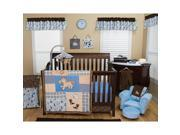 Trend Lab Cowboy Baby 6 Piece Crib Bedding Set - Blue/Brown