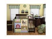 Trend Lab Baby Barnyard 6-Piece Crib Bedding Set - Green