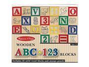 ABC 123 Wooden Blocks by Melissa & Doug