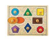 Melissa & Doug Jumbo Knob Puzzle - Classic Shapes