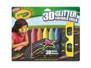 Crayola 3D Glitter Chalk 9SIAD245DX8821