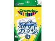 Crayola Doodling Washable Markers - 12-Pack