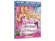 Barbie Mariposa & the Fairy Princess Blu-Ray Combo Pack Blu-Ray/DVD/Digital 9SIAA763US4844