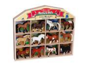 Melissa & Doug Flocked P - 12-piece Collectible Horse Breeds with Stable Box 9SIV06W6B68415