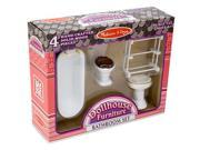Melissa & Doug Dollhouse Bathroom Furniture