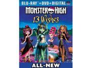 Monster High-13 Wishes Blu-Ray Combo Pack 9SIA17P3RD5662