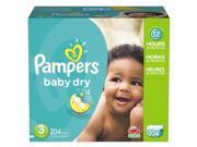Pampers Baby Dry Size 3 Diapers Economy Plus Pack - 204 Count - $0.23/Ea.