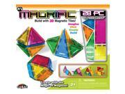 Magrific Magnetic Tiles Building Set - 28 Piece Generic Color