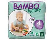 Bambo Nature Size 4 Diapers 6 Pack 30 Count