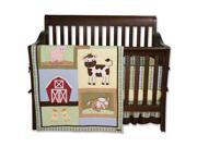 Trend Lab Baby Barnyard - 4 Piece Crib Bedding Set - 106720