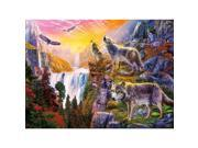 1000 Piece Puzzle - Wolves in the Sun