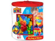Cra-Z-Art Bright Blox 82 Piece Bag of Blocks - Blue