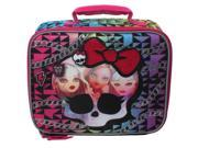 Mattel Monster High Sublimation Print with Glitter Insulated Lunch Box