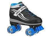 Roller Derby Lighted Wheel Roller Skate Boy s Sz 3 Blue Black Grey Blazer