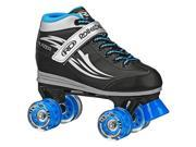 Roller Derby Lighted Wheel Roller Skate Boy's Sz 5 Blue/Black/Grey - Blazer