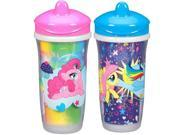 My Little Pony BPA Free 2 Pack 9 Ounce Insulated Spout Cup - Pink/Blue 9SIA3G649T3276