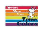 Marmont Hill Show Your True Colors Peanuts Print on White Pine Wood