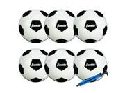 Franklin Sports 6 Pack Competition Size Soccer Ball With Pump Size 4