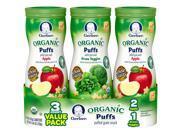Gerber Organic Puffs Variety Pack 3 Pack