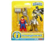 Fisher-Price Imaginext DC Super Friends Superman and Metallo Figures 9SIAD185ZR9645