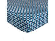 Lolli Living Mod Navy Leaves Fitted Sheet